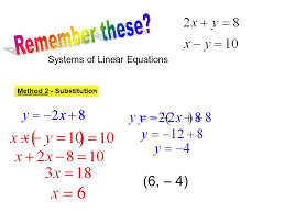 remember these 6 4 systems of linear equations