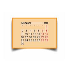 November 2020 Calendar Clip Art Days Silhouette Week Stock Illustrations 110 Days