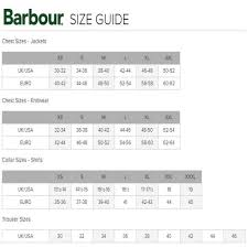 Barbour Size Chart Mens 21 Barbour Size Chart About Chart Barbour Sizes Chart