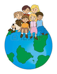 Image result for CHILDREN SITTING ON THE WORLD CARTOON