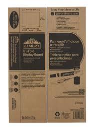 elmer s tri fold corrugated display board