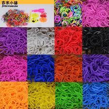 diy toys rubber bands bracelet for kids or hair rubber loom bands refill rubber band make woven bracelet diy 2019 gift