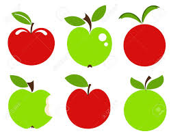 green and red apple clipart. pin apple clipart bitten green #3 and red l