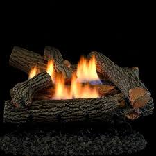 superior fireplaces 24 inch crescent hill gas logs with vent free natural gas dual flame burner remote ready