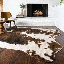cow skin rugs faux animal hide rugs imposing skin home ideas decor