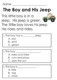 Image result for simple reading text for grade 1 | Language ...