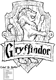 Harry Potter House Crest Coloring Pages Education Harry Potter