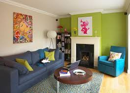 view in gallery eclectic living room with green wallpaper design think contemporary