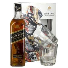 johnnie walker black label 12 year whisky 70cl art series gift set drinksupermarket