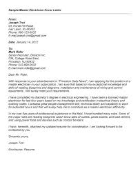 cover letter for master thesis application sample electrical technician cover letter