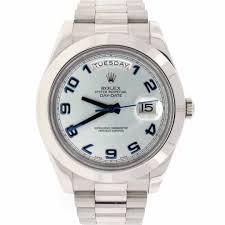 rolex president day date ii original ice blue arabic dial platinum rolex president day date ii original ice blue arabic dial platinum 41mm automatic mens watch 218206 elegantswiss watch co
