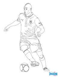 Coloriage Du Joueur De Foot Mario Baloteli Imprimer Gratuitement