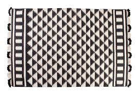 view in gallery black and white triangle rug black white rug home