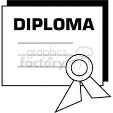 royalty black and white outline of a diploma certificate  black and white outline of a diploma certificate