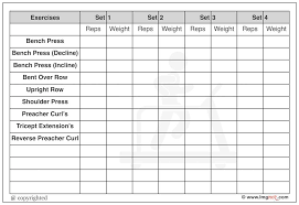 workout template excel gym workout template excel chart log book daily schedule list