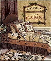 lodge cabin log cabin themed bedroom decorating ideas - moose ... & Pine Cone by Patchmagic is an afternoon at the cottage in late fall. Pine  cones. Luxury Quilts is a woodsy pattern ... Adamdwight.com