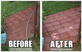 pressure washing brick paver patio
