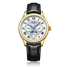 rotary moonphase watch rotary men s gold plated moonphase watch gs05066 01 £110 95 uk post