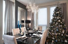 decorating dining room ideas. Elegant Contemporary Dining Space With A Sparkling Christmas Tree [ Design: LUX Design] Decorating Room Ideas C