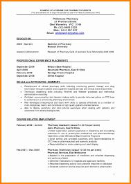 8 Pharmacy Curriculum Vitae Examples Letter Signature