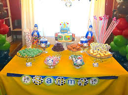 Kids Party Table Decoration Ideas Kids Toy Story Dessert Table