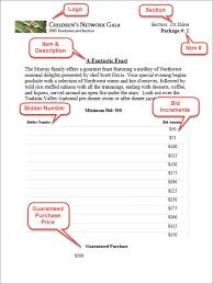 Sample Bid Sheets For Silent Auction Silent Auction Bid Sheets Event Software Or Diy