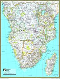 national geographic southern africa wall map of 7