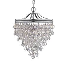 crystorama calypso 3 light chrome mini chandelier