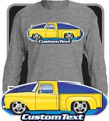 Custom Art Long sleeve Shirt 1961 61 1962 62 1963 63 64 1964 65 1965 1966 66 Ford F-100 F100 F-250 Mercury M-100 Pickup Truck Stepside Flareside Twin ...