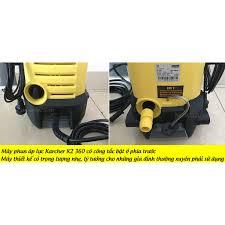 CHÍNH HÃNG ĐỨC ] Máy rửa xe gia đình chỉnh áp Karcher K2 360 KAP , Tặng dây  cấp nước 3m