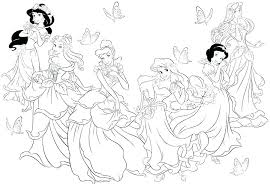 disney princesses coloring pages to print princesses coloring pages free printable all princess jasmine to print