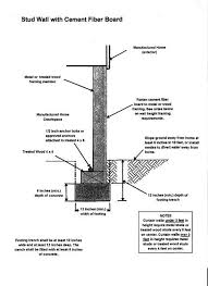 17 best images about diy mobile home repair toilets mobile home skirting stud wall cement fiber board diagram