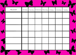 Reward Chart Template Wonderful Behavior Charts And Reward Chart Template Sample