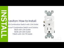 leviton presents how to install a combination device a single leviton presents how to install a combination device a single pole switch and a receptacle