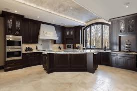 dark wood floor kitchen. Kitchen, Kitchen With Dark Wood Floors Black Laminated Countertop Double Sink White Porcelain Smoke Painted Floor O