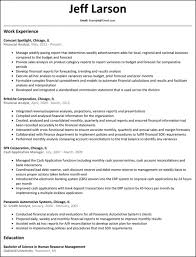 Financial Analyst Sample Resume Awesome Summary Examples Cv Example