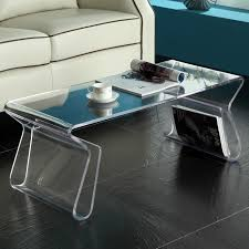 ... Coffee Table, Charming Clear Rectangle Minimalist Plastic Coffee Table  Idea Which Can Be Used For ...