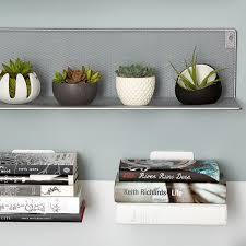 Silver Mesh Wall Shelf