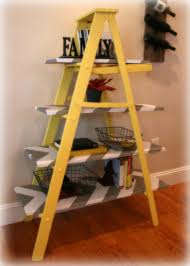 Calm Vintage Yellow Wooden Leaning Ladder Shelf Build It Or It N Ladder  Shelf Build It