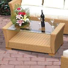 rattan and glass coffee table round glass top coffee table elegant royal teak all weather wicker coffee rattan tables with round wicker coffee table glass