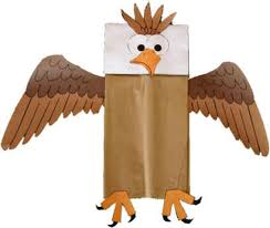 bald eagle template paper bag bald eagle craft
