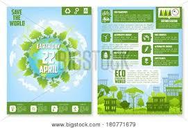 Earth Day Brochure Vector Photo Free Trial Bigstock