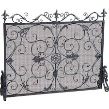 antique cast iron fireplace screen ebth cast iron fireplace