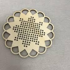 set of 50pcs wooden cross stitch shape for crafts blank snowflake wqhj75652