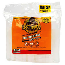 gorilla hot glue sticks 4 inch full 45 count adhesives meijer grocery pharmacy home more