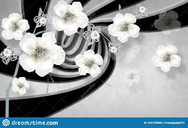 3D Flower Wallpaper Colorful Background ...