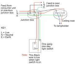 one way lighting junction box one way lighting circuit using junction boxes