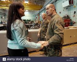 Apr 06, 2006; Camp Pendleton, CA, USA; TONIA SARGENT, left, meets ...