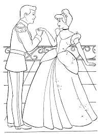 Free Printables Disney Cinderella Princess Coloring