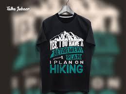 Hiking T Shirt Design Dribbble Hiking Tshirt Design 002 Jpg By Talha Jubaer